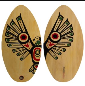 "Lucky Bums 39"" Wood Skimboard"