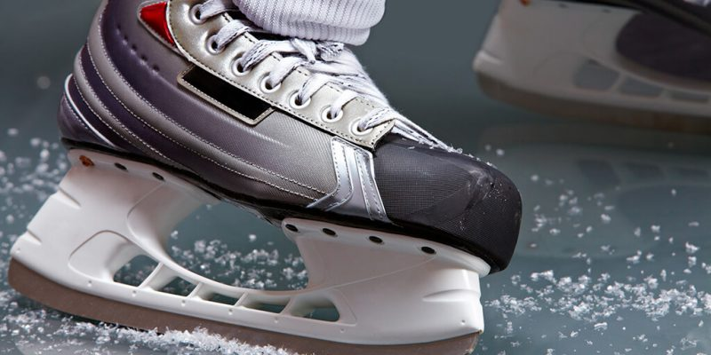 hockey skate closeup