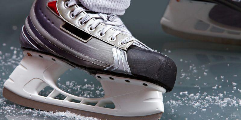 hockey skate closeup